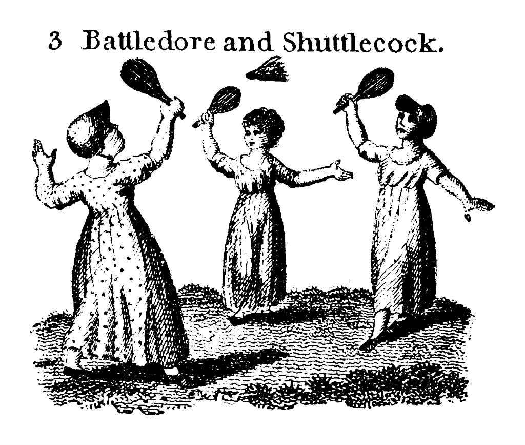 Battledore orígenes juego bádminton