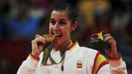 Carolina Marín gana la medalla de oro olímpica en Río 2016.