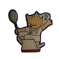 Cobi bádminton, mascota Barcelona 92.
