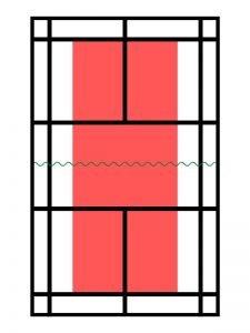 cómo es la pista de minibádminton modalidad individual power bádminton
