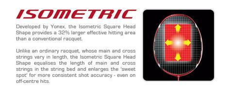 isometric sweet spot mejor raqueta de bádminton