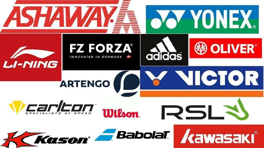 logos de marcas de la mejor raqueta de bádminton